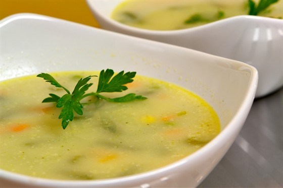 Суп молочный с репой, капустой и картофелем