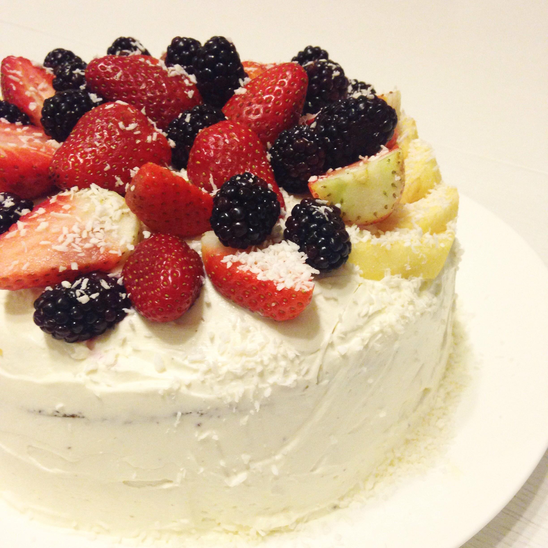 Торт с кремом из