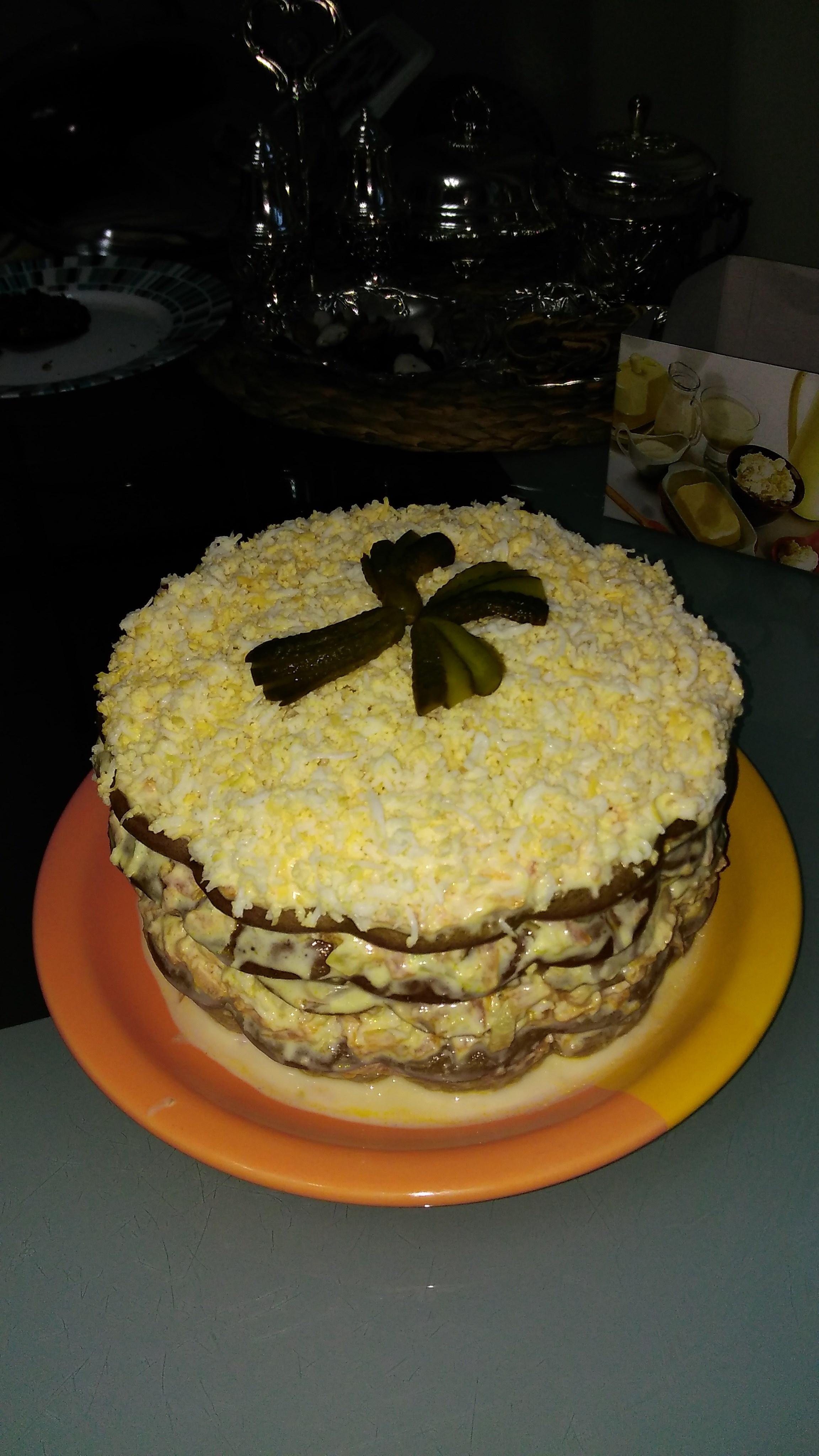 Печеный печеночный торт