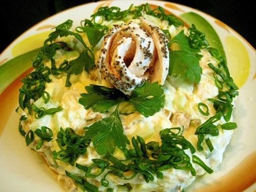 французский салат рецепт мясные шарики