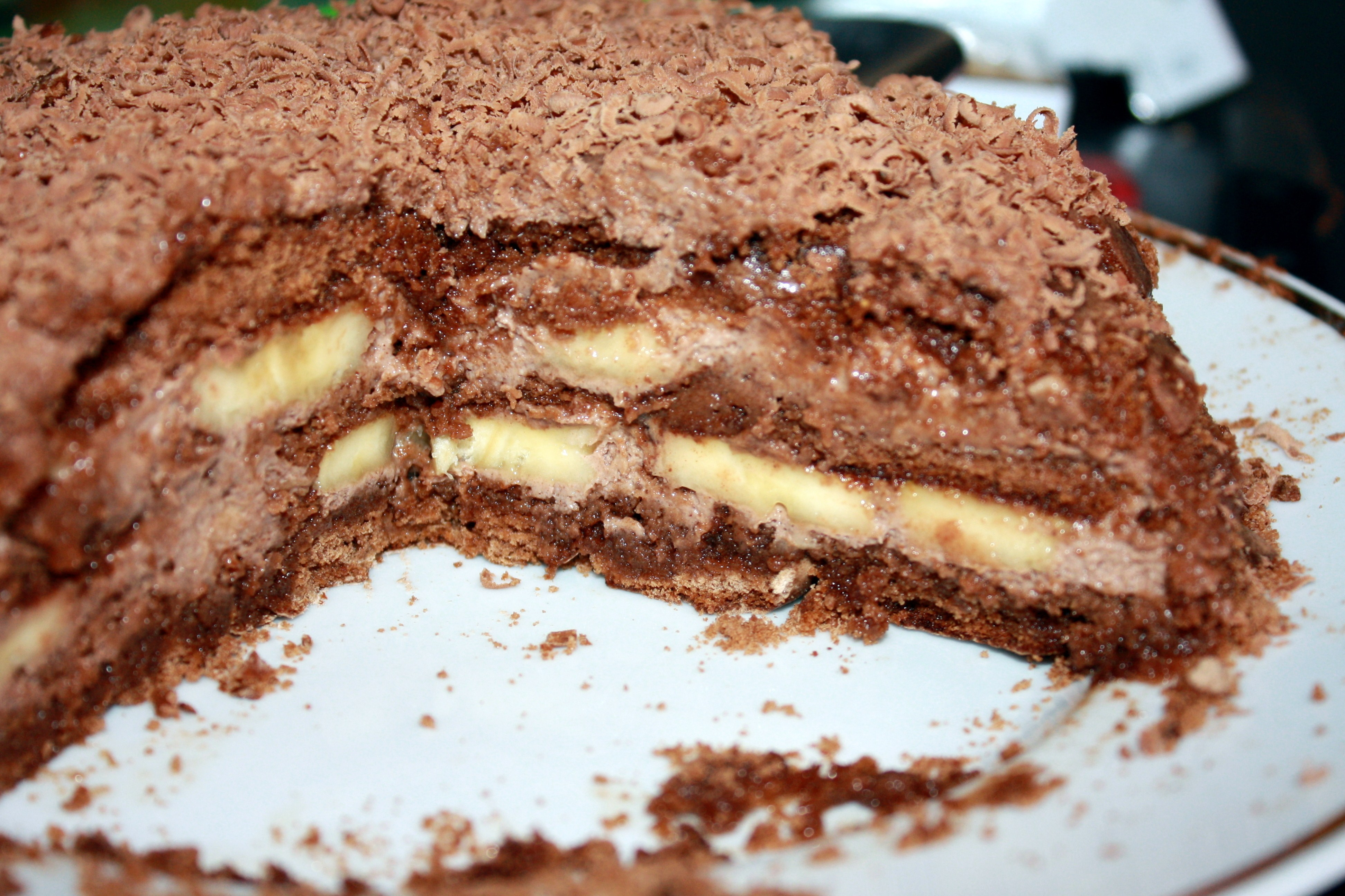 Торт шоколадно банановый рецепт пошагово