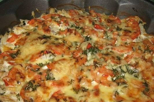 Треска с помидорами и сыром в духовке рецепты с фото