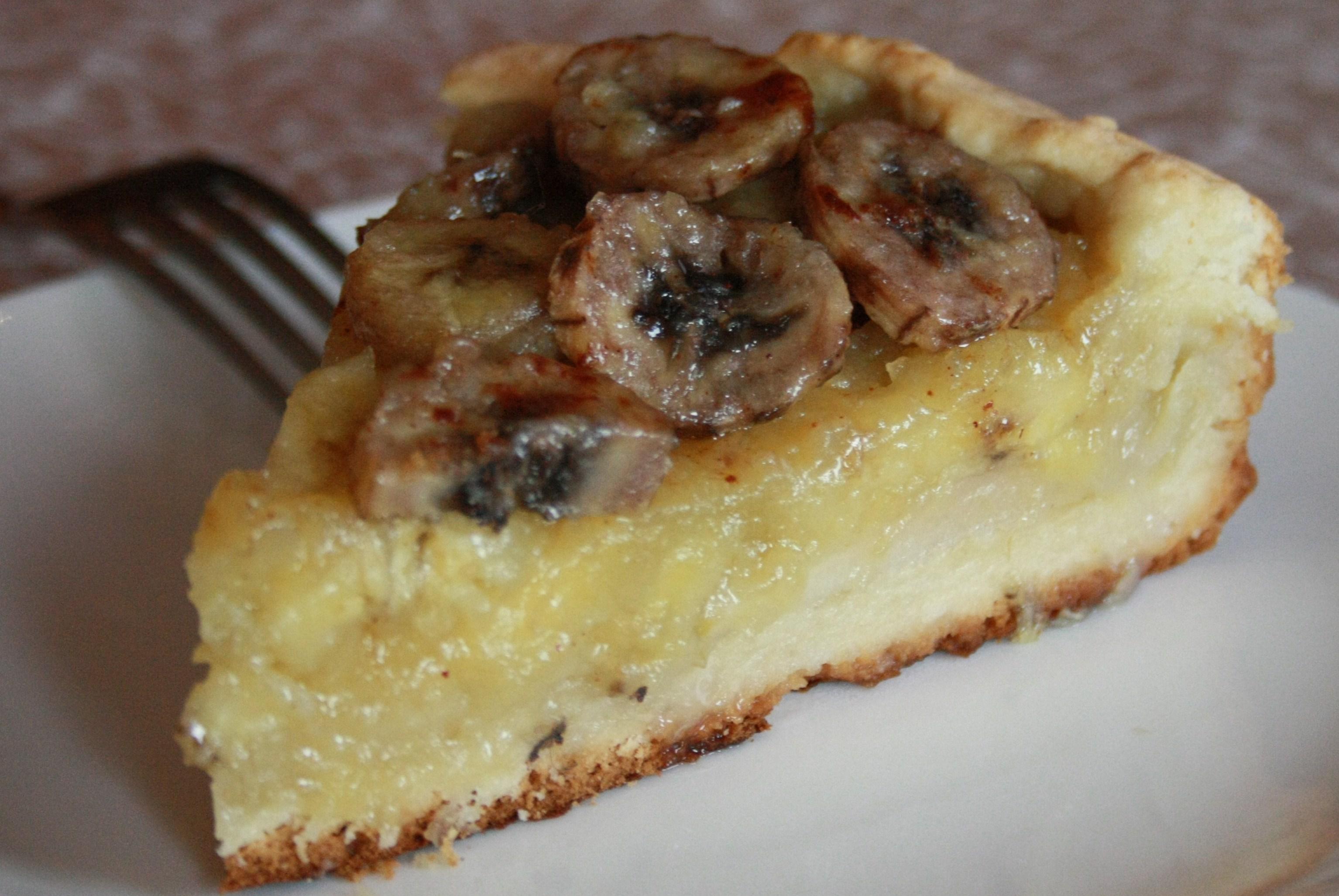 Пошаговый рецепт бананового пирога