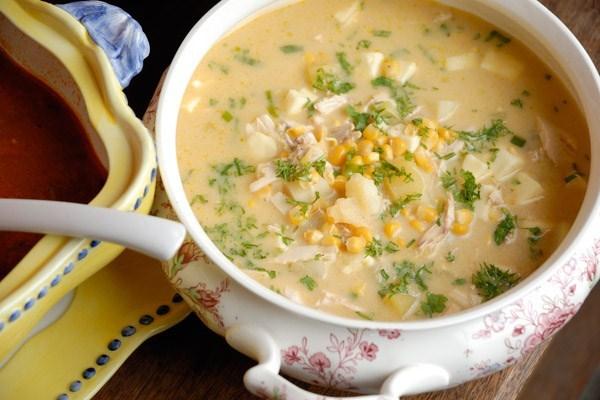 Молочный суп чупе по-аргентински