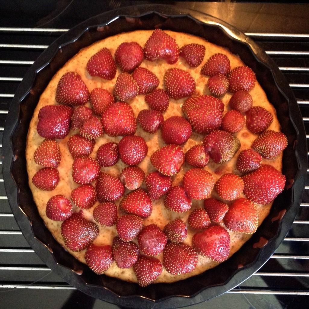 Пирог с клубникоф рецепт