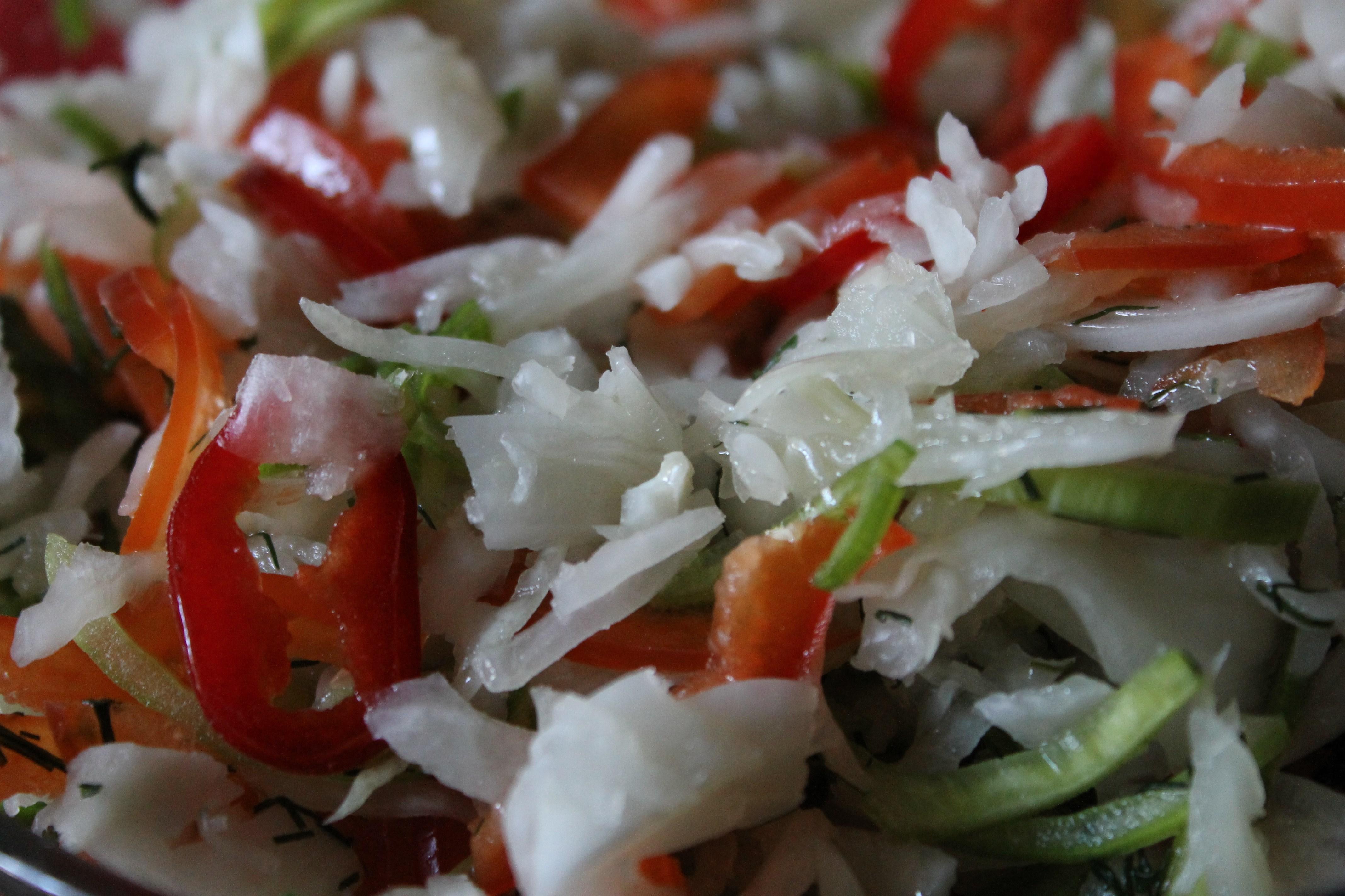 квашеная капуста с болгарским перцем рецепт