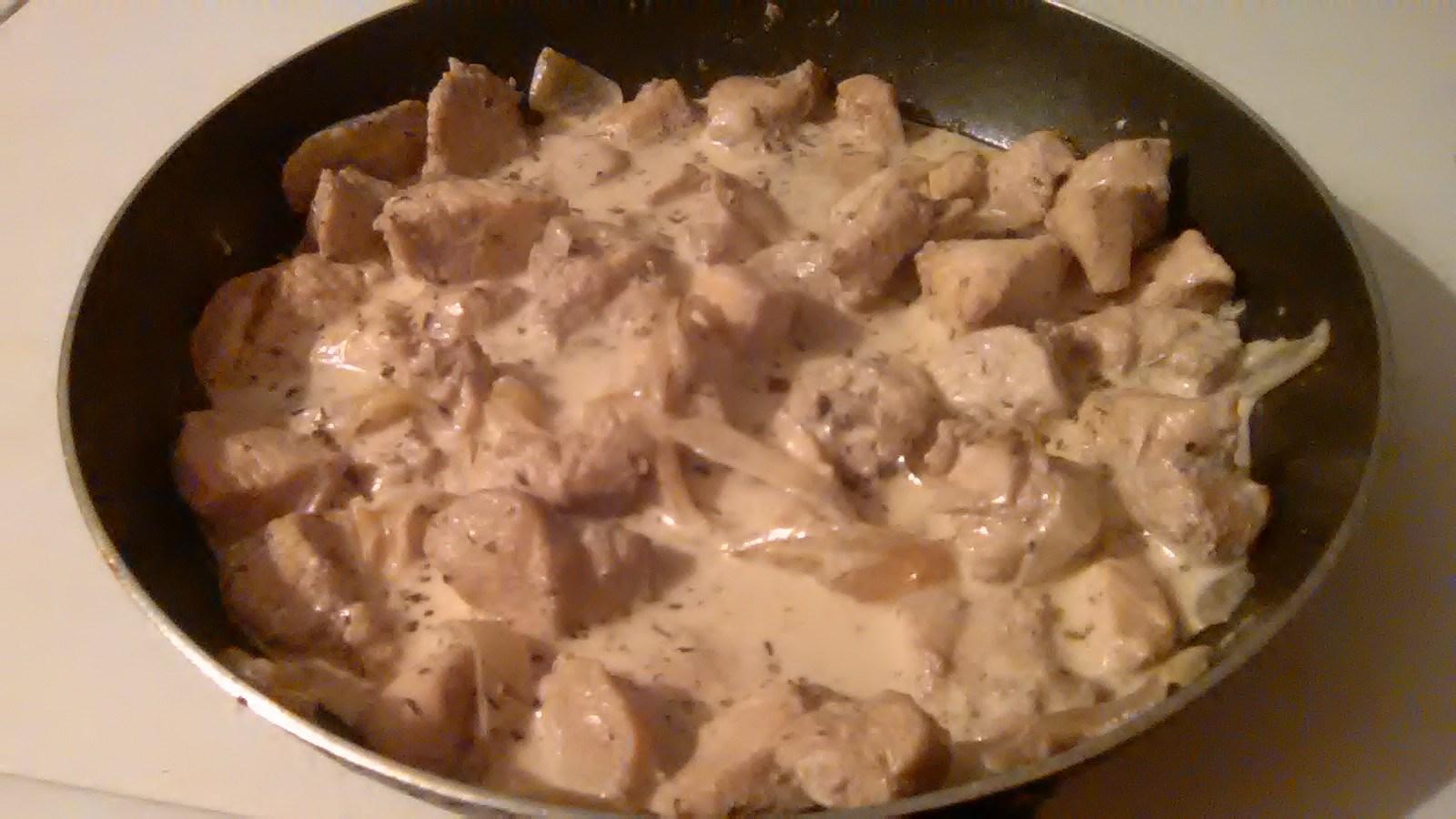 Куриное филе с грибами в сметанном соусе в духовке рецепт пошагово