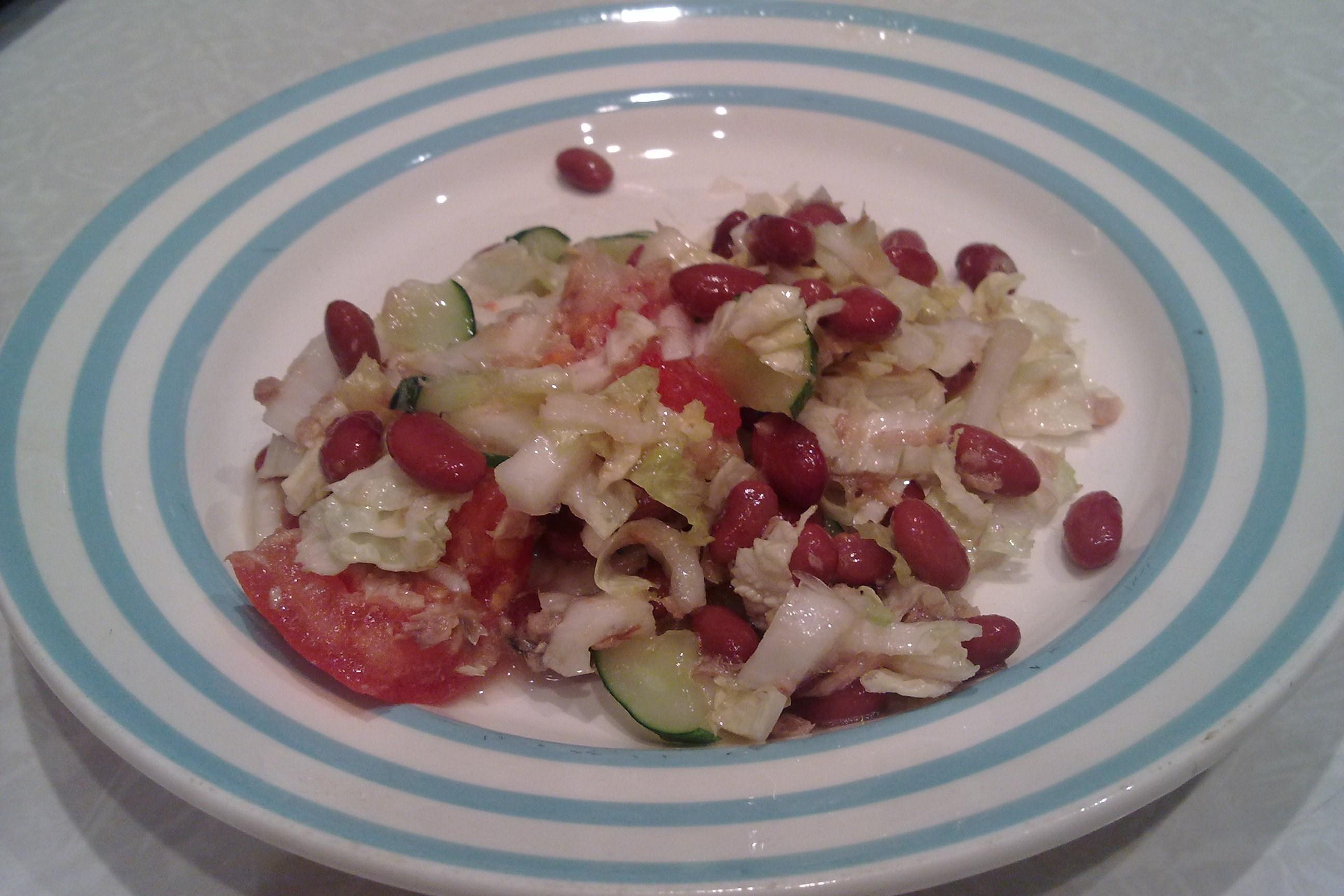 Салат с фасолью красной рецепт пошагово в