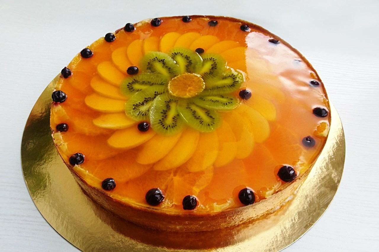 Творожный торт с фруктами фото и рецепт пошагово