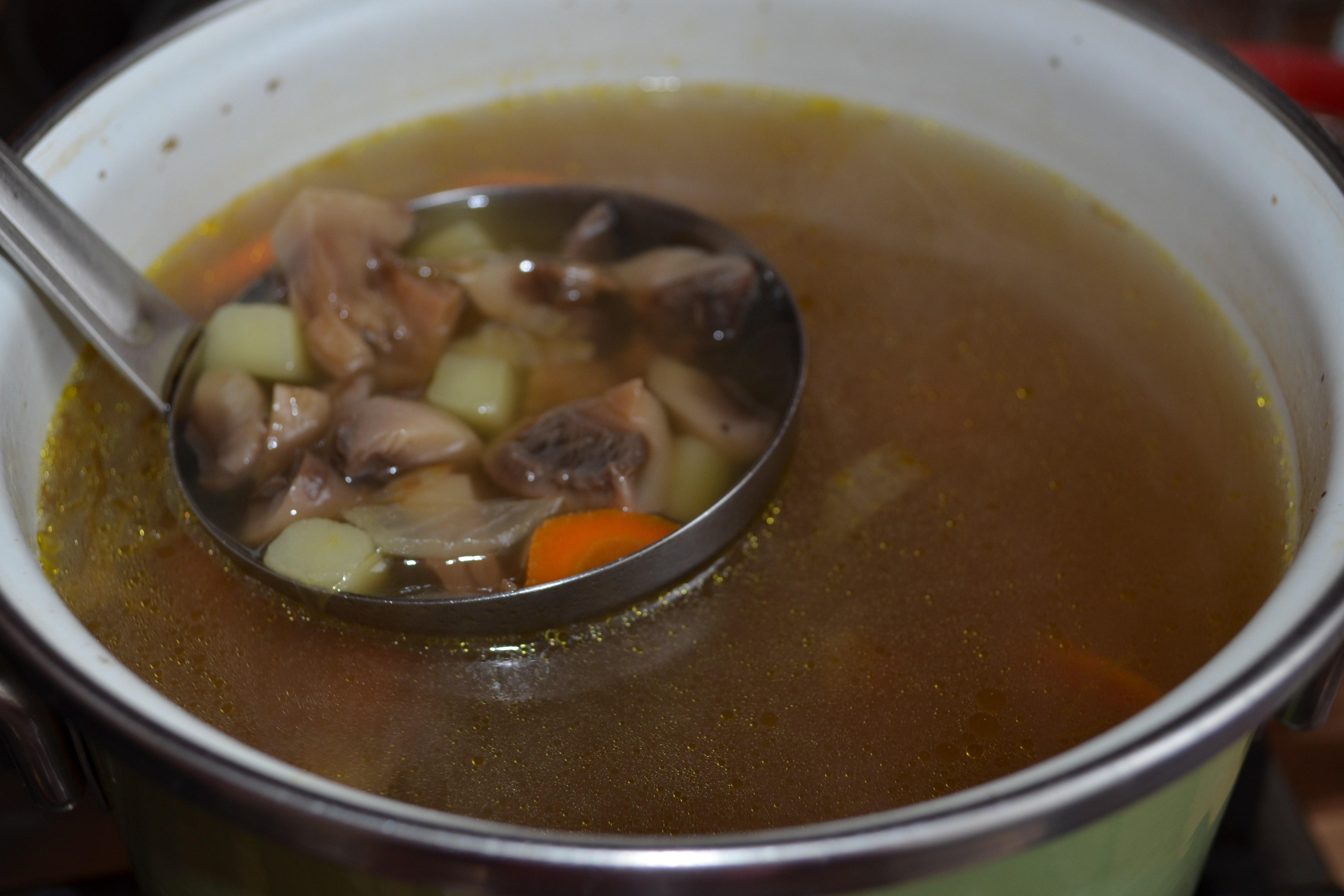 грибной суп с картофелем и мясом рецепт