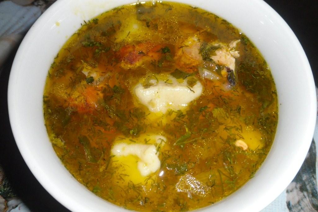 сырный суп куриный с клецками рецепт с фото