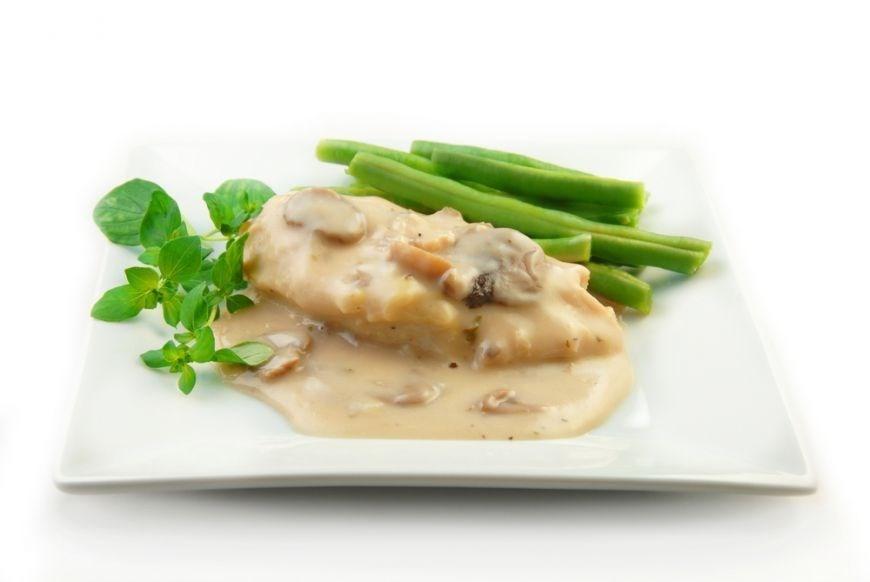 Куриное филе в сливочном соусе с грибами рецепт пошагово