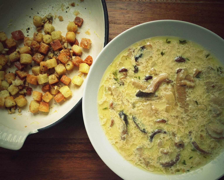 суп с лесными грибами и сливками рецепт с фото