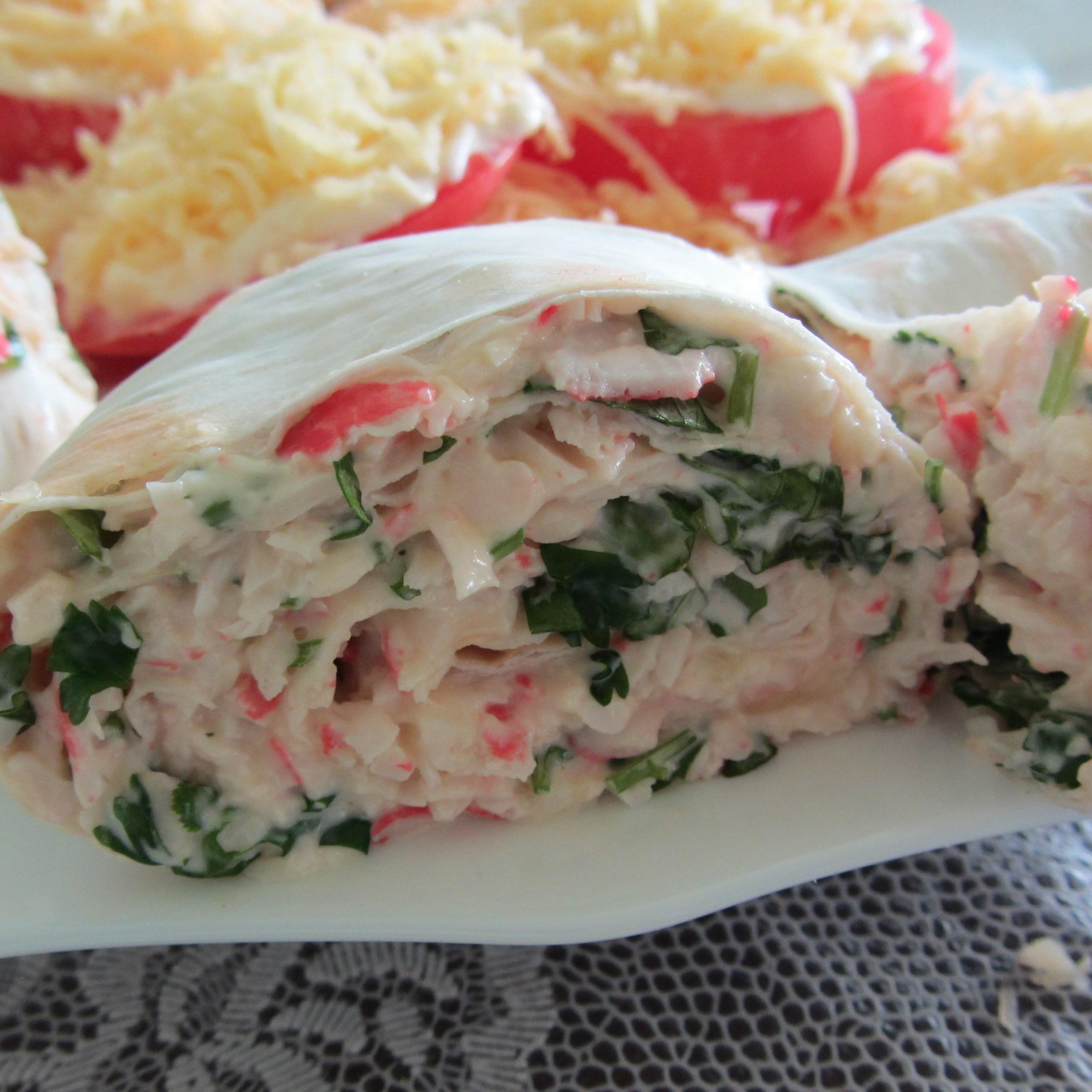 Блюда из лаваша с крабовыми палочками