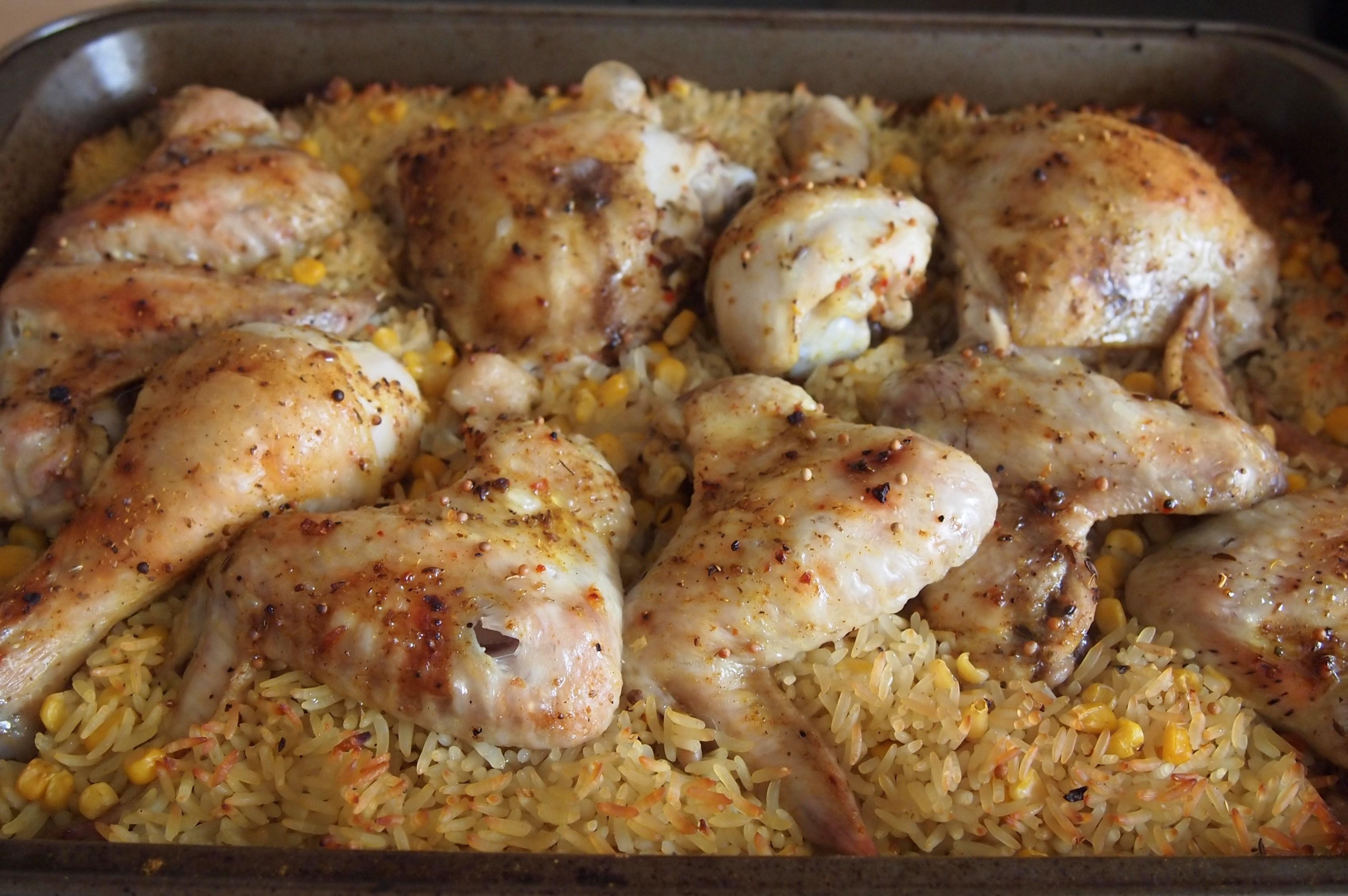 Тушеная курица с кукурузойы