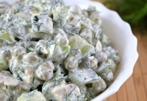 Рецепт салат из горошек