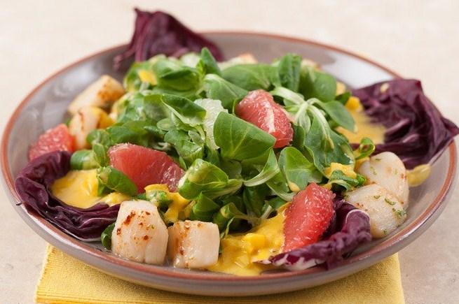 салат с гребешком рецепт
