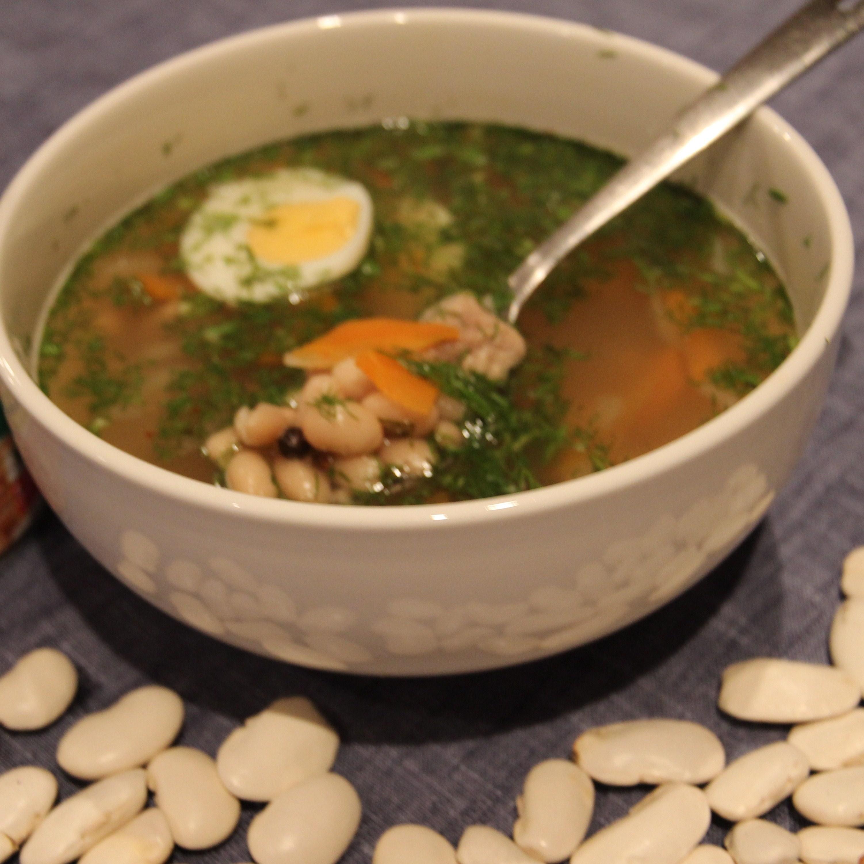 Суп с белой фасолью рецепт пошагово