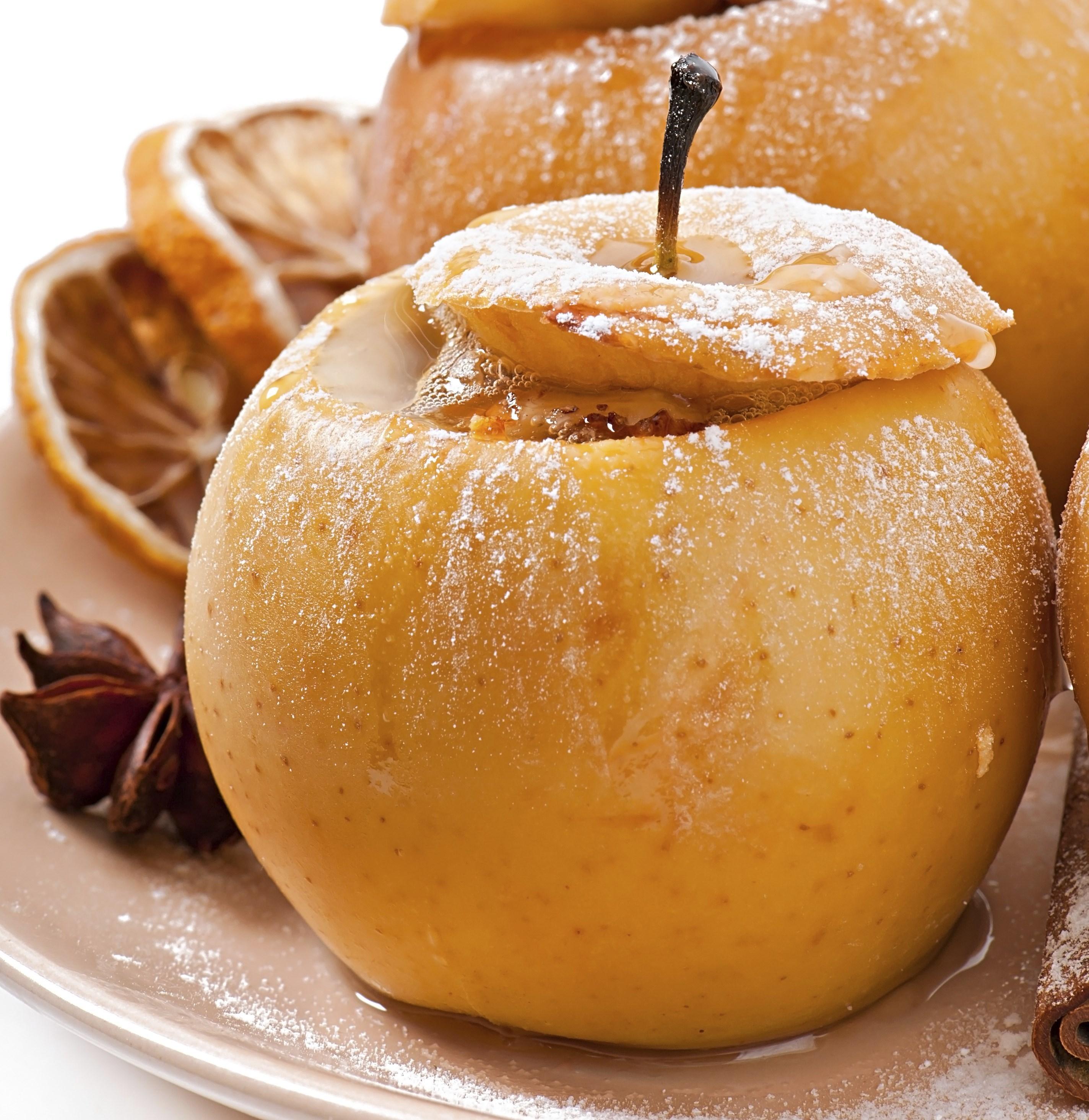 Запеченные яблоки в духовке с творогом и медом рецепт пошагово