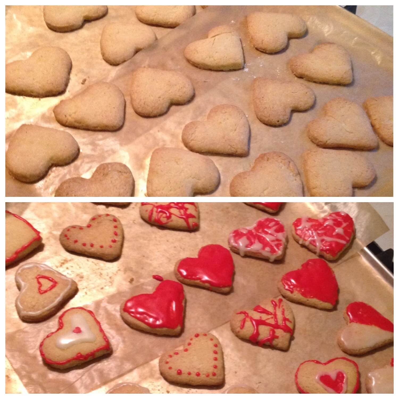 Песочное печенье с глазурью