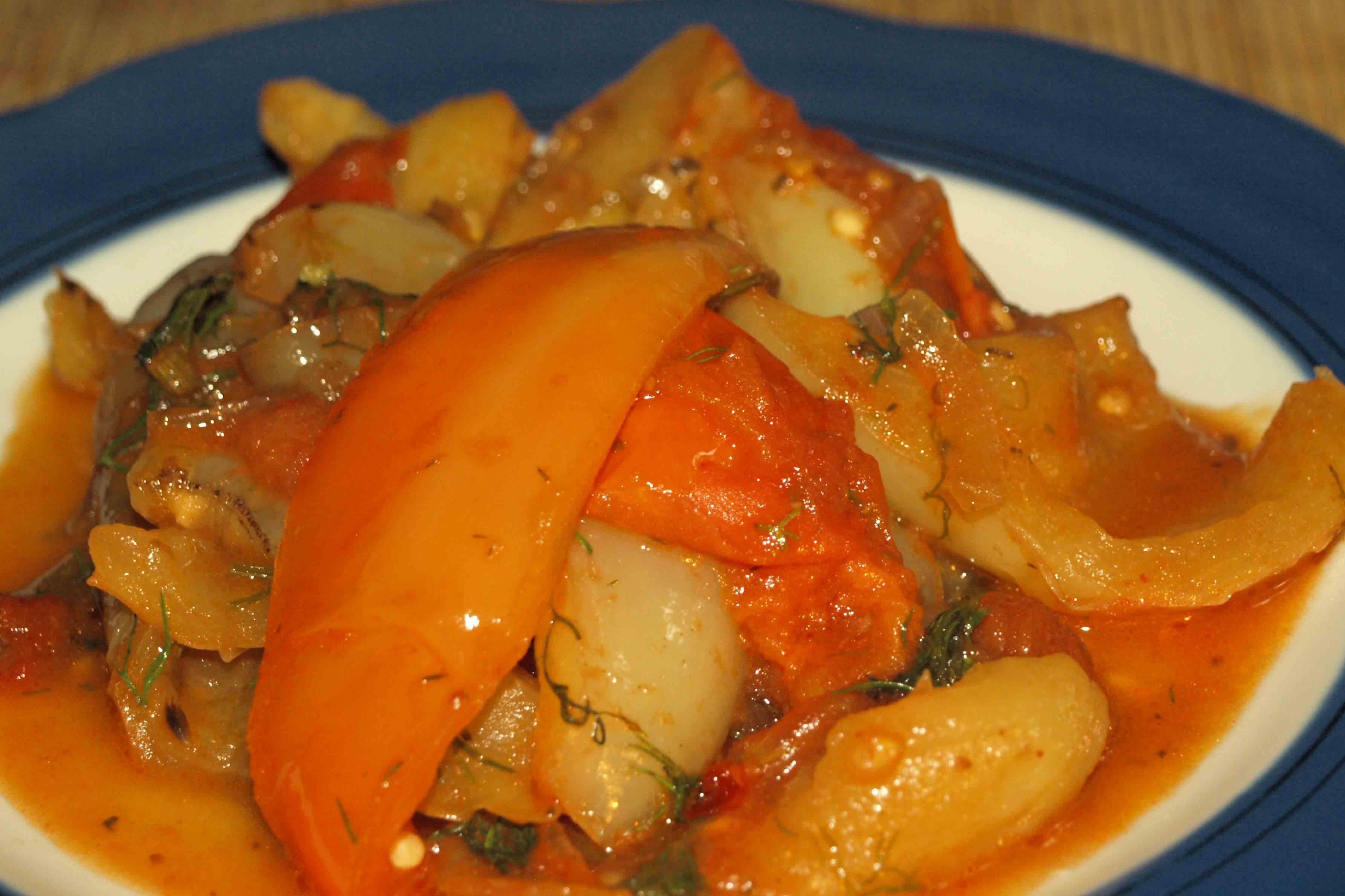 Жаренный перец сладкий с луком пошаговыйрецепт