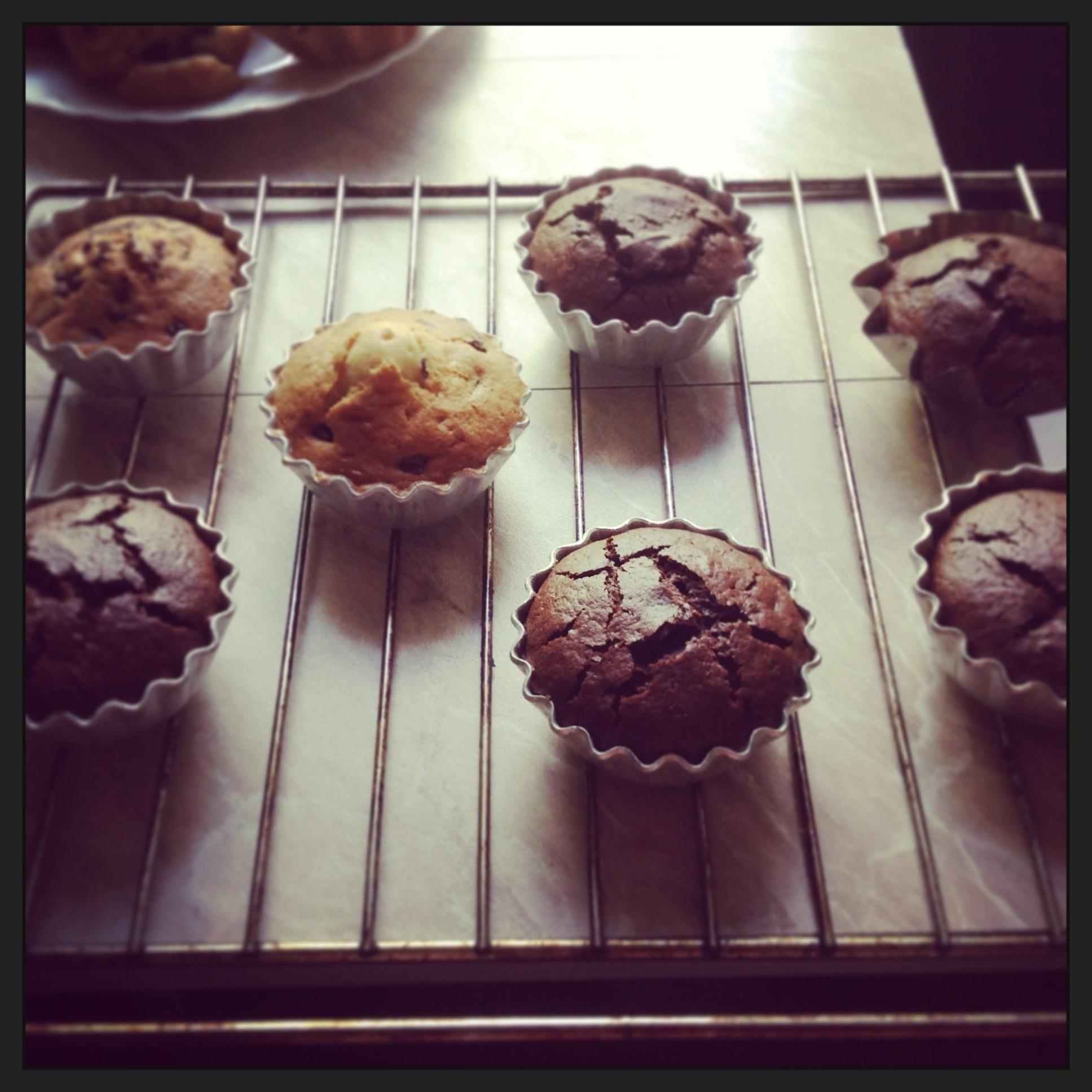Маффины с кусочками шоколада: рецепт с фото картинки