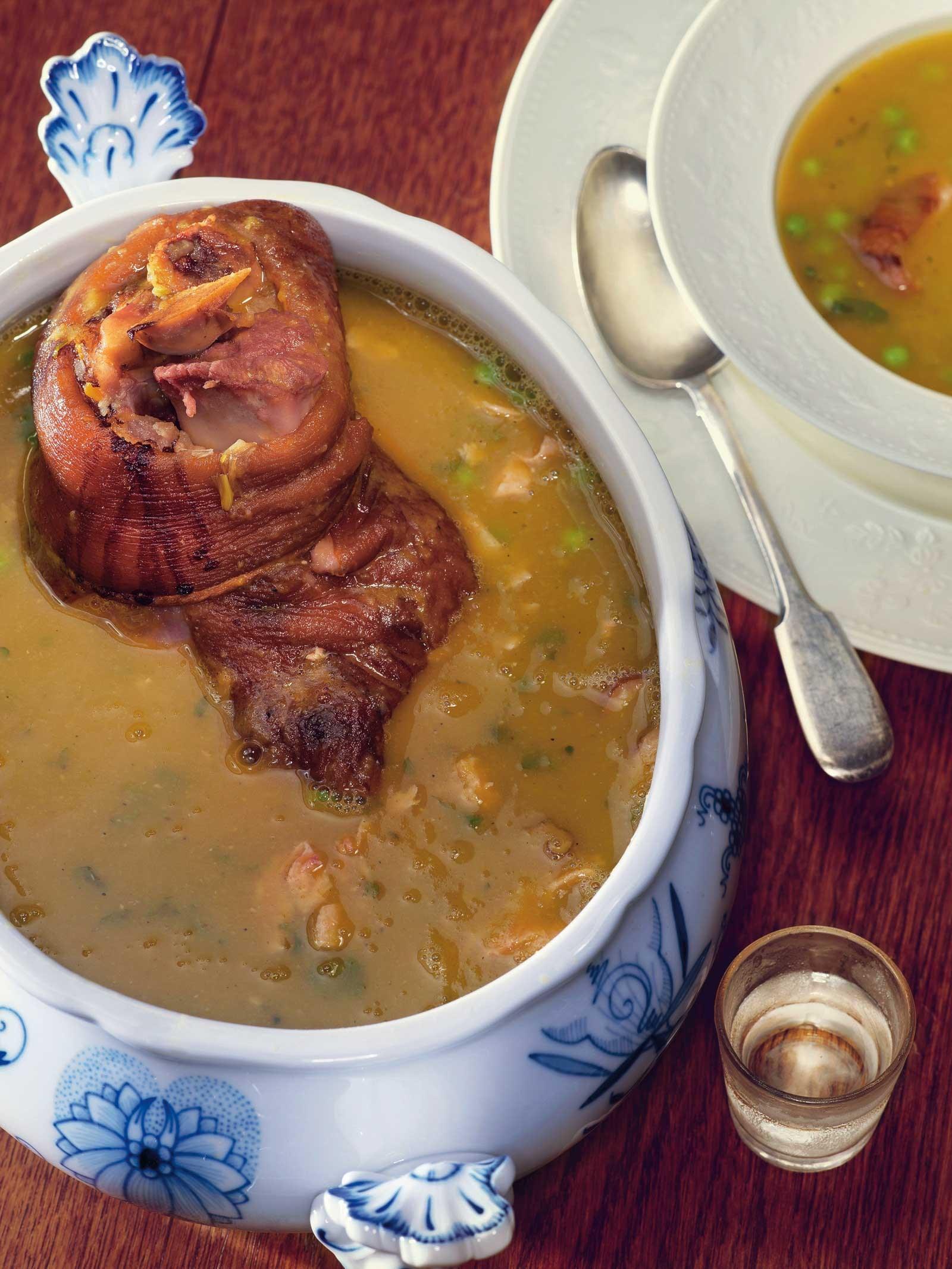 Гороховый суп с рулькой пошаговый рецепт