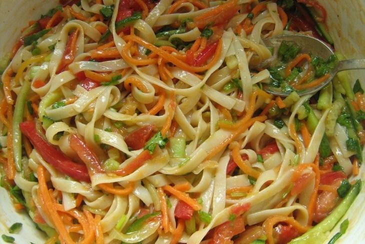 удон лапша с курицей и овощами рецепт с фото