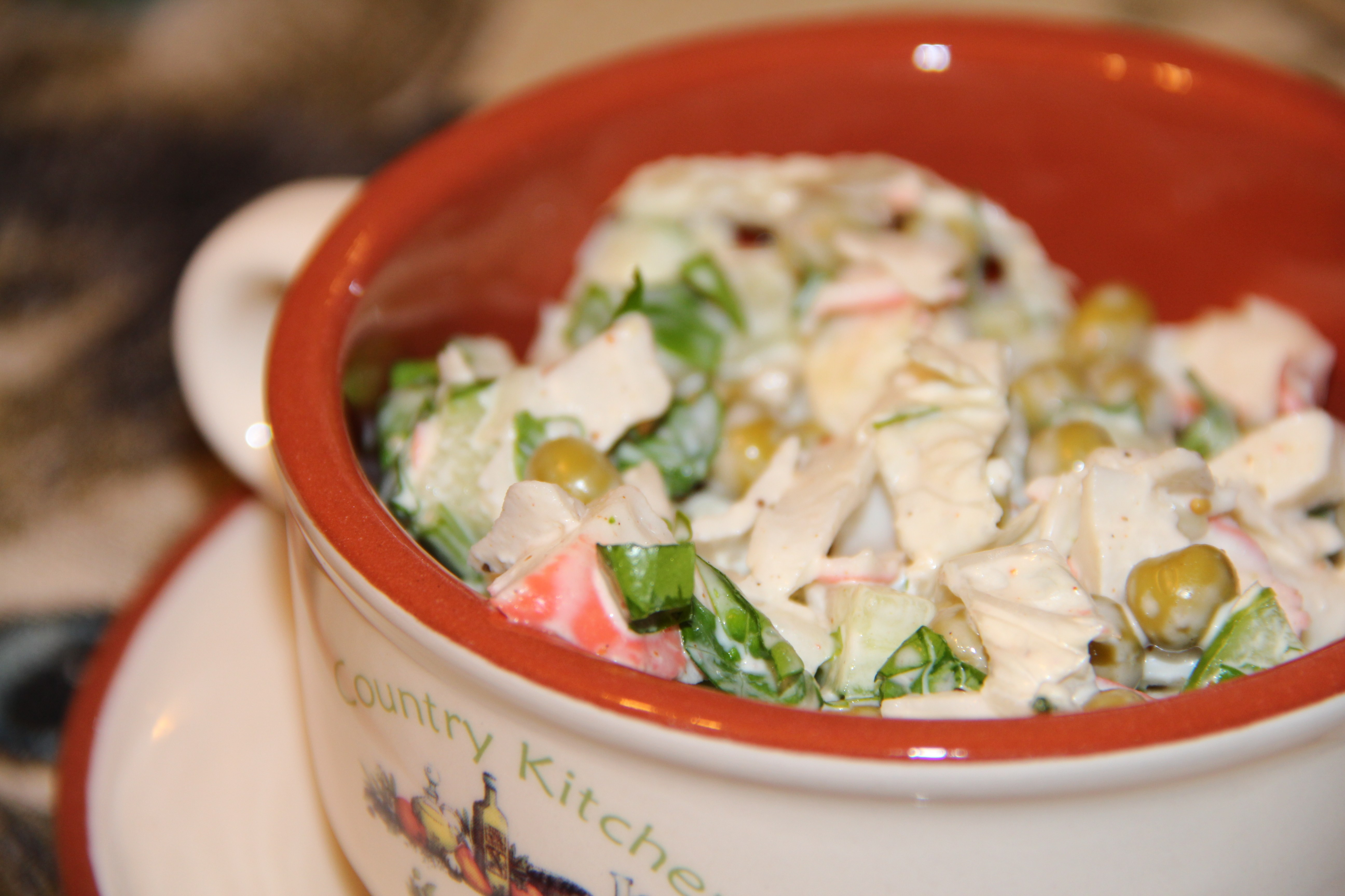 Рецепт салата с зеленым горохом с