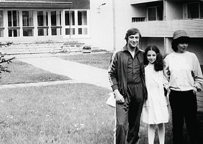 Алиса Хазанова с папой Геннадием Хазановым и мамой Златой Эльбаум.