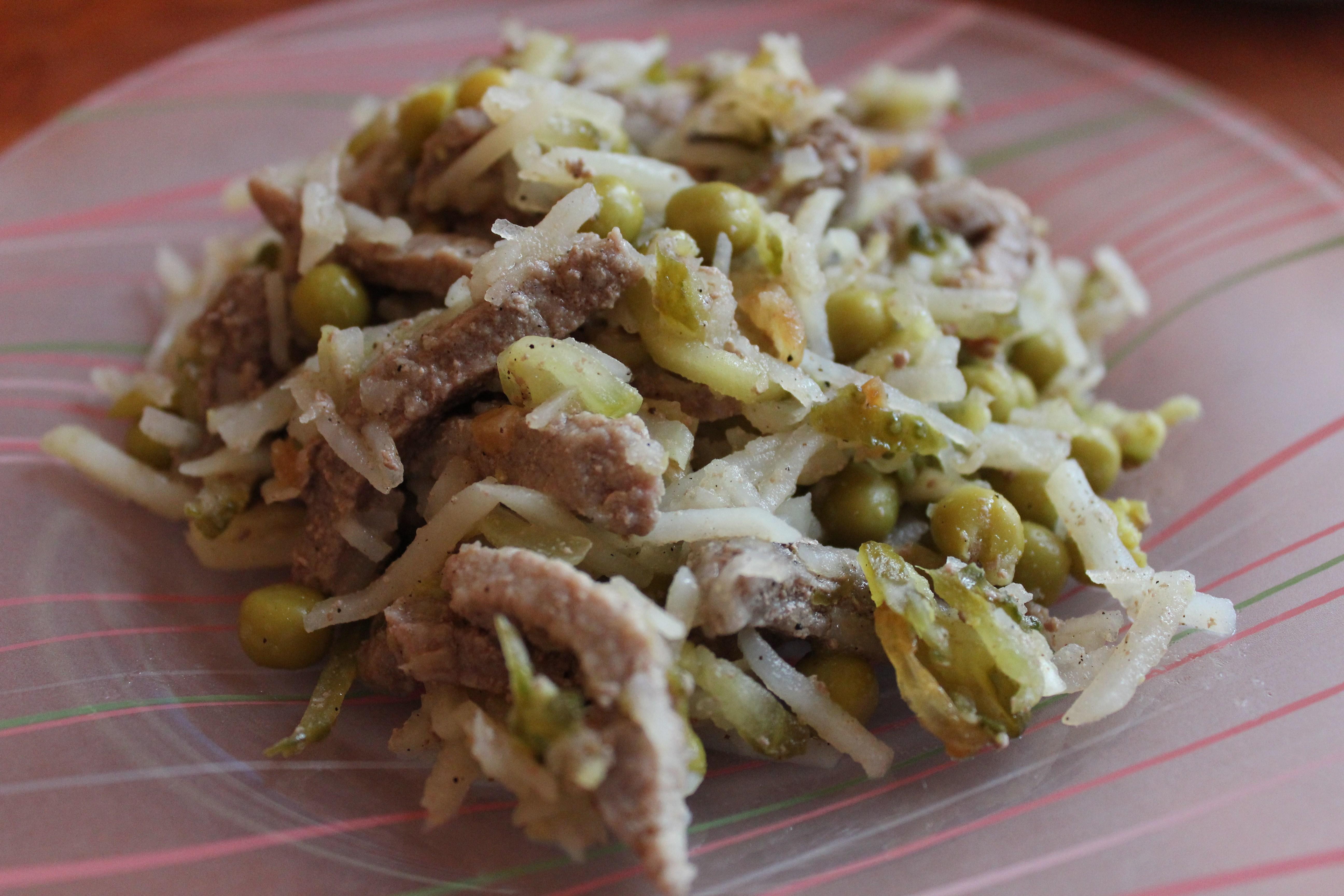 салат мясной рецепт с говядиной