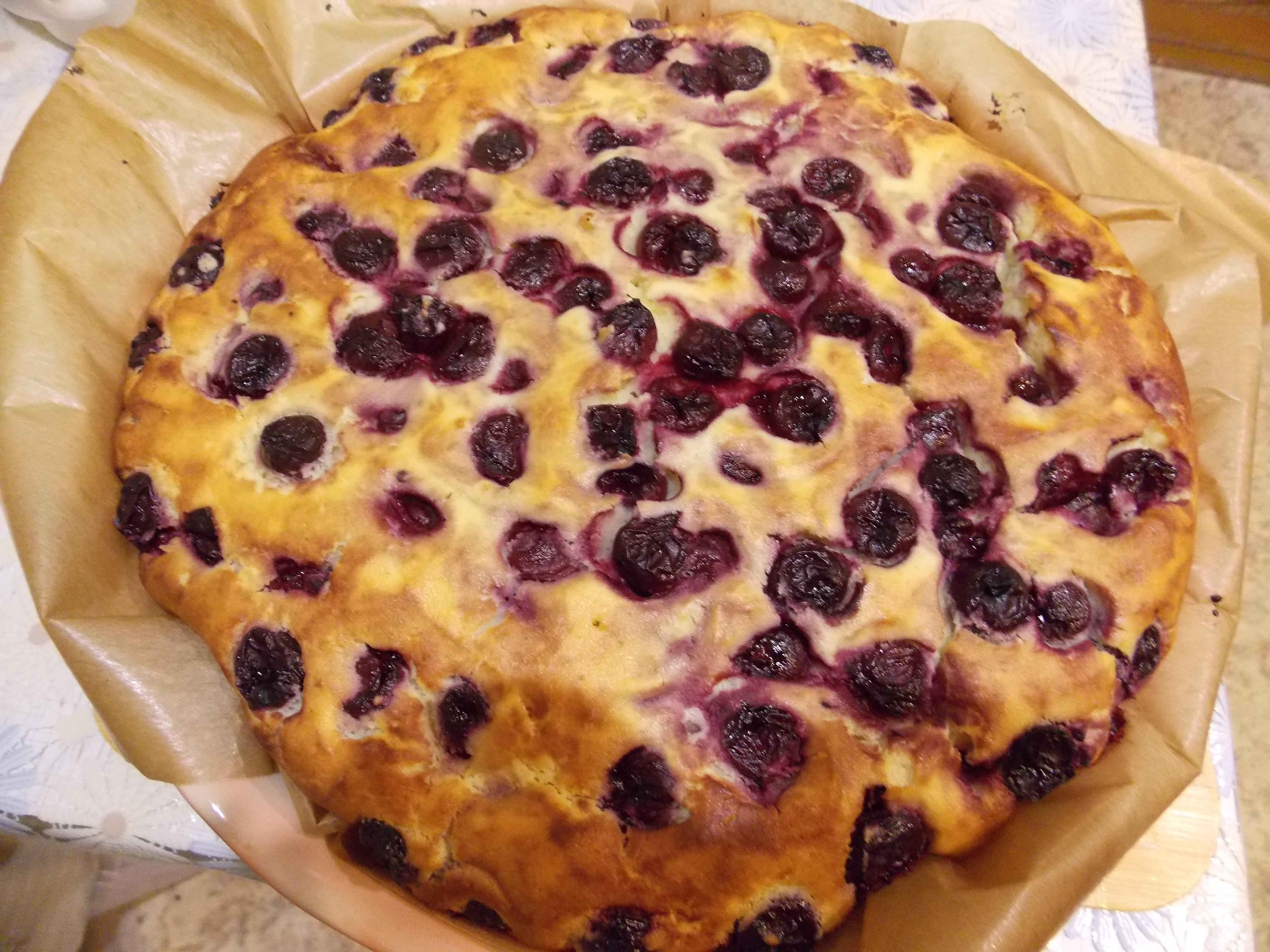 Пирог с вишней пошаговый рецепт в домашних условиях