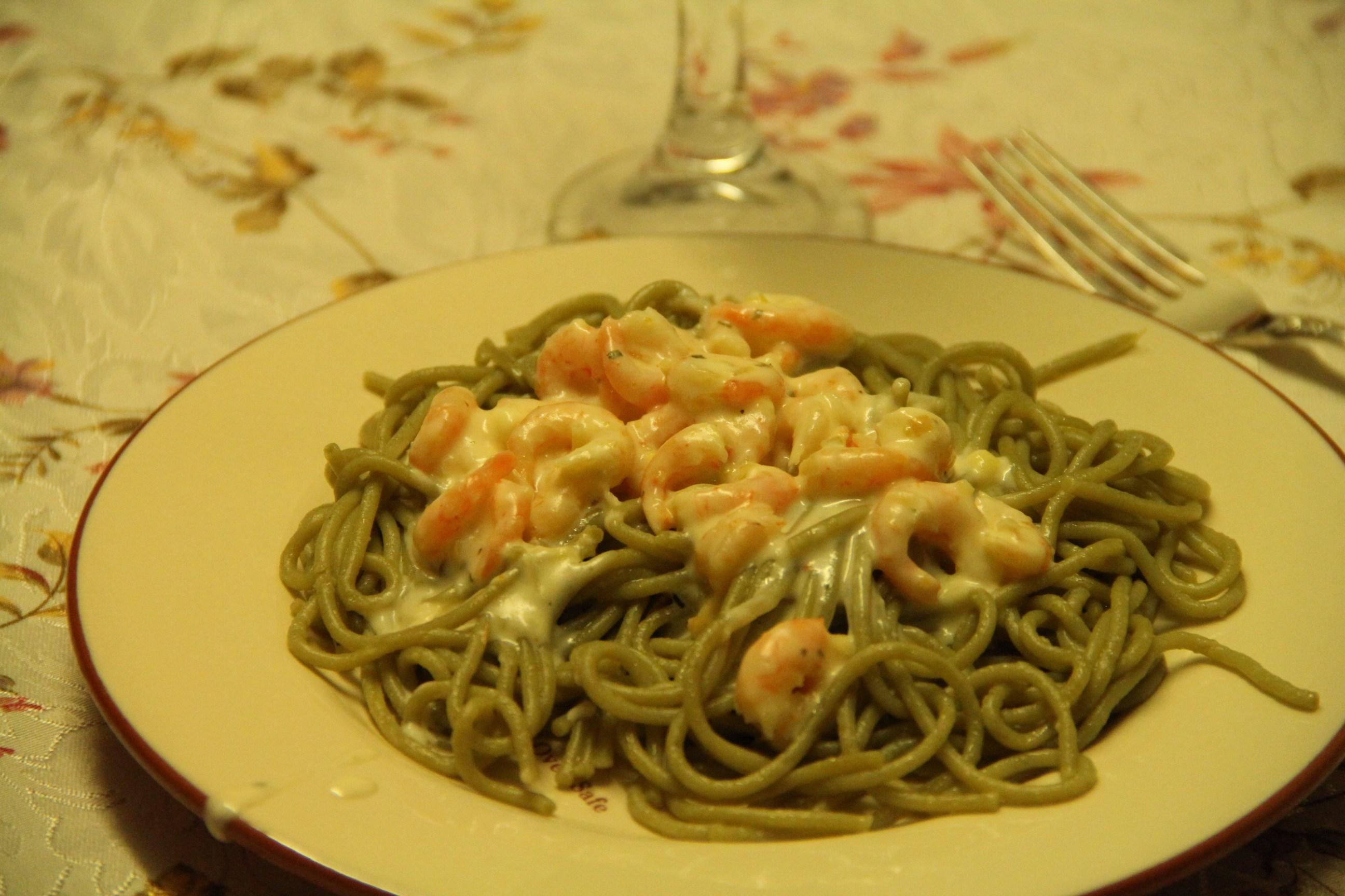 Рецепт паста с креветками пошагово с фото