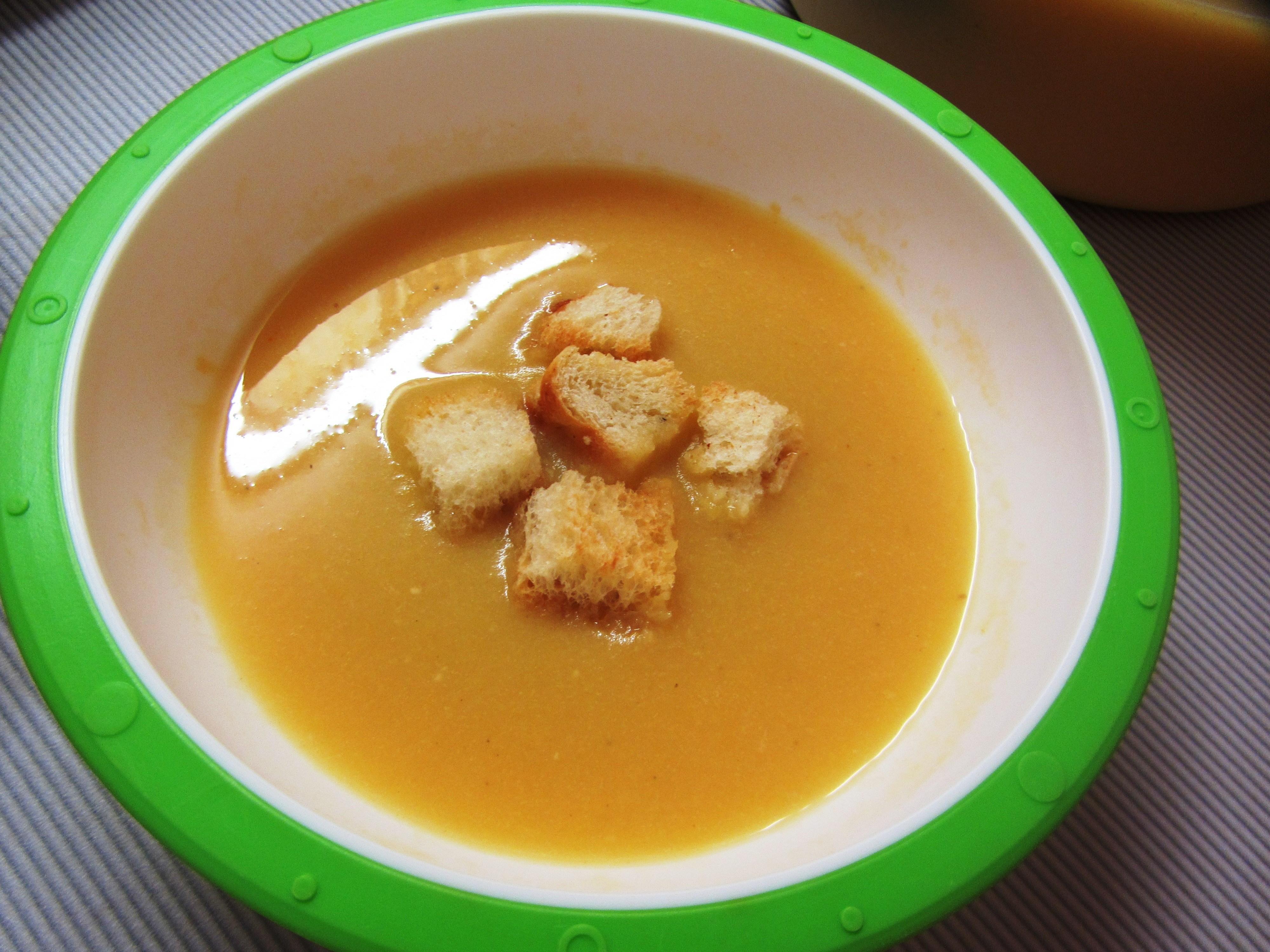 рецепты суп крем с гренками