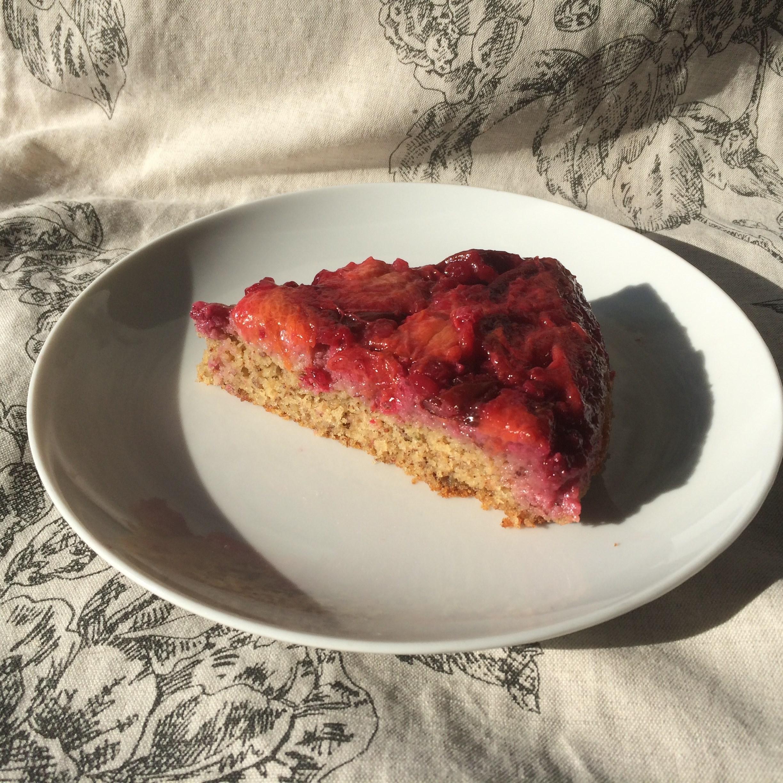 Сливовый пирог перевертыш рецепт пошагово