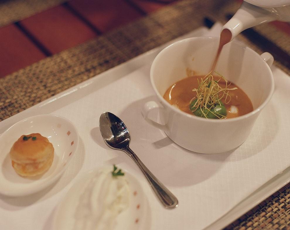 В ресторане Murano — классические итальянские и французские блюда.