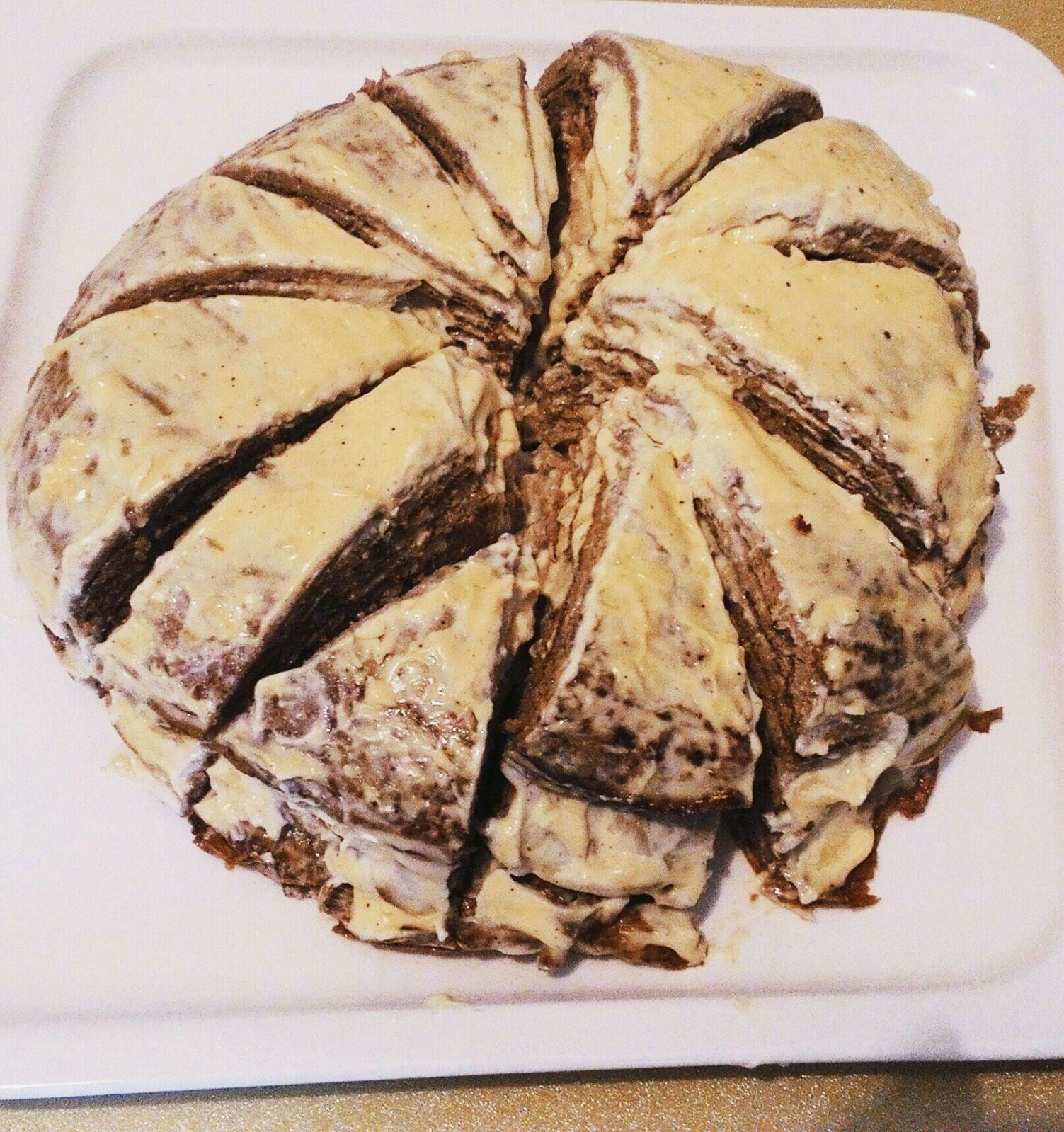Печеночный торт чесноком и майонезом