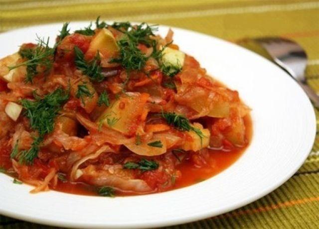 рагу овощное с капустой и с картошкой