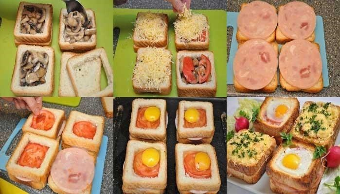 Бутерброды быстро пошагово с
