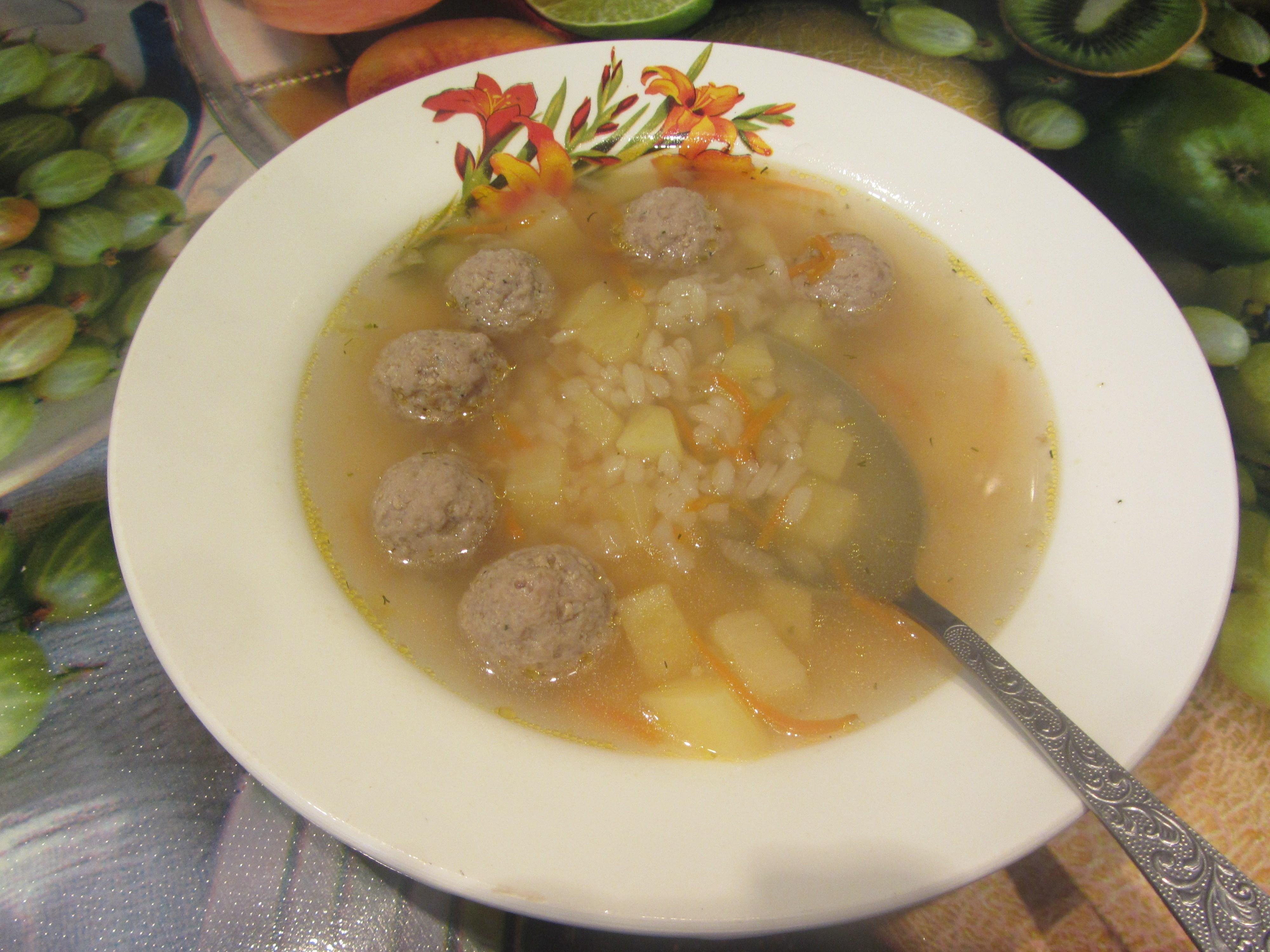 Суп с фрикадельками с сыром рецепт пошагово