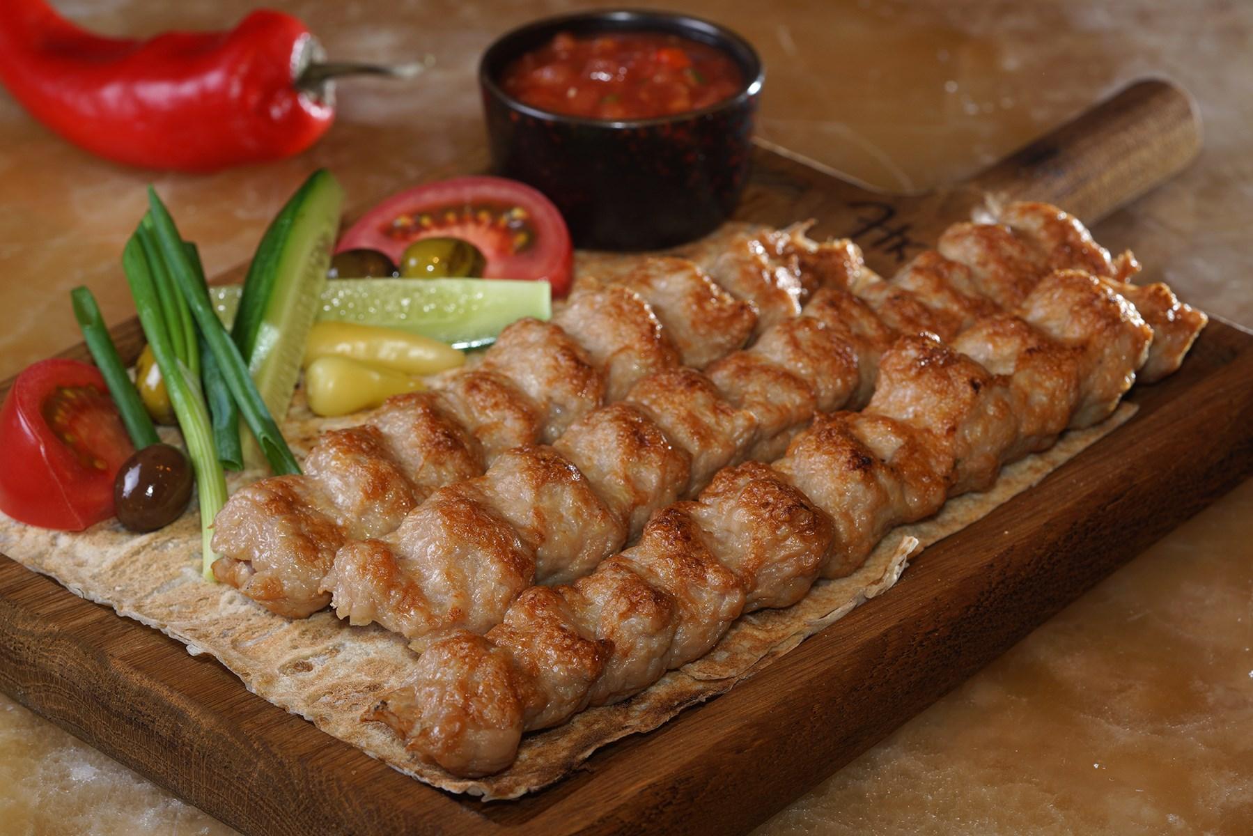 Сочный кебаб из курицы